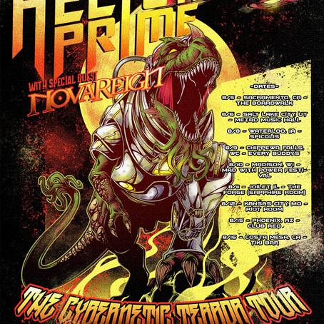 Sci-fi Power Metal HELION PRIME Announces 'The Cybernetic Terror Tour' (CA/UT/IA/WI/IL/MO/AZ