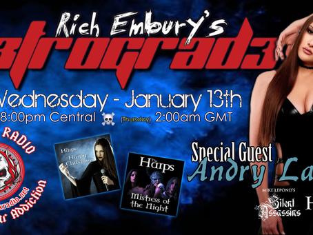 Andry Lagiou (The Harps) + Usual Shinanigans - Rich Embury's R3TROGRAD3 (01/13 + 01/15)