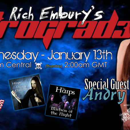Andry Lagiou (The Harps) + Usual Shinanigans - Rich Embury's R3TROGRAD3 (01/13 + 01/15)