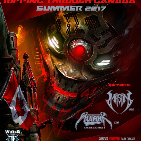 "Jun.13 - Jul.1 metal legends ANNIHILATOR ""Rip Through Canada""; For first time in 20 years!"