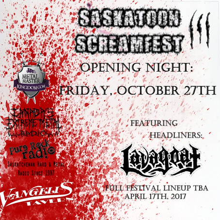 SASKATOON SCREAMFEST III announces 2nd night and increased roster including LAVAGOAT