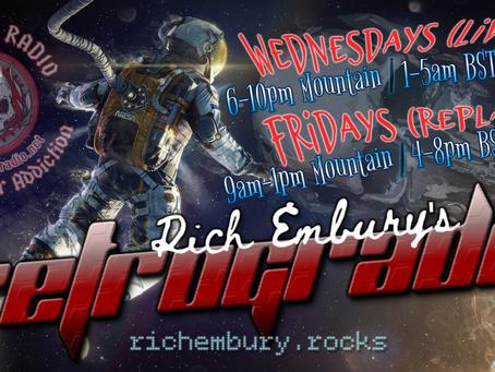 New Hard Rock & Metal on Rich Embury's R3TROGRAD3 (09/09 + 09/11)