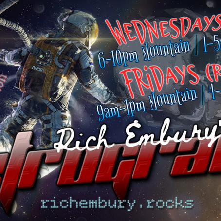 New Hard Rock & Metal on Rich Embury's R3TROGRAD3 (09/09 + 09/11)