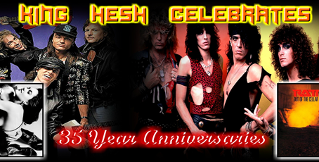 KING HESH: Love at First Sting (SCORPIONS) + Out of the Cellar (RATT) turn 35!