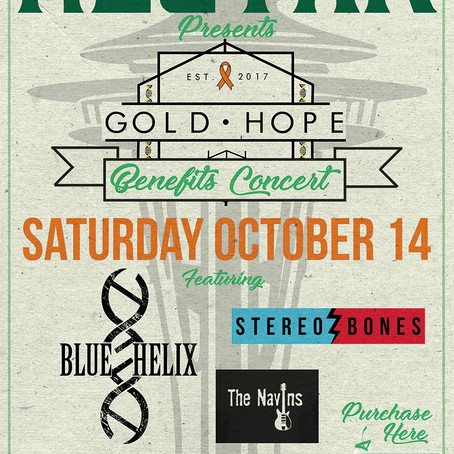 BLUE HELIX to play upcoming Gold Hope Benefit Show to combat MS (Oct. 14th)