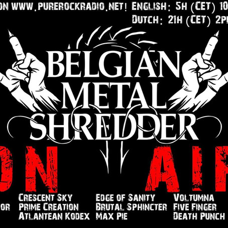 Belgian Metal Shredder: 17 Jan. 2020 (Dutch/Nederlandse)