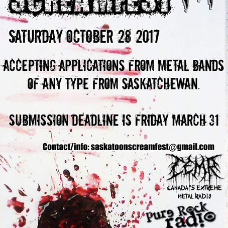 SASKATOON SCREAMFEST III seeks Saskatchewan Metal band submissions