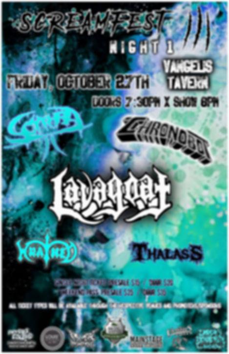 Saskatoon Screamfest III - Night 1