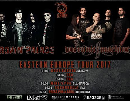 ROXIN' PALACE Eastern Europe tour 2017 with OVERUNIT MACHINE