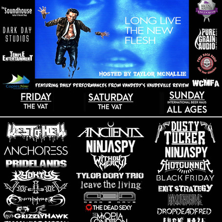 DAYS OF THE DEAD FEST announce 2017 line-up w/ANCIIENTS, NINJASPY, DUSTY TUCKER, WITHOUT MERCY, WEST