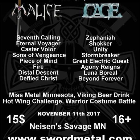 CAGE and MALICE to headline SwordMetal Fest VI