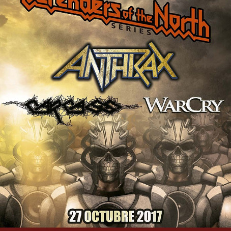 ANTHRAX, CARCASS and WARCRY to play inaugural DEFENDERS OF THE NORTH festival in Mexico