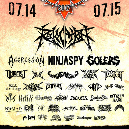 ARMSTRONG METAL FEST reveal set times for 2017 line-up w/ REVOCATION, NINJASPY, AGGRESSION and more!