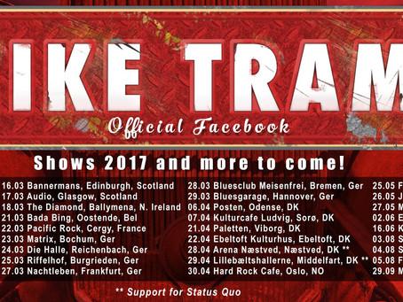 MIKE TRAMP enters #1 on Danish album sales charts w/'Maybe Tomorrow' album!