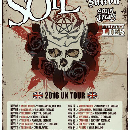 SOiL announce Oct./Nov. UK-European Tour with SALIVA and SONS OF TEXAS