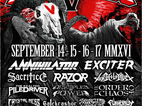 REMINDER! CALGARY METALFEST V w/Annihilator, Exciter (orig. line-up) etc. Sept 14-17 (a week away)