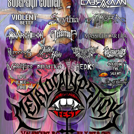 Canadian festival celebrating Women of Metal METALOCALYPSTICK announces 2017 line up!