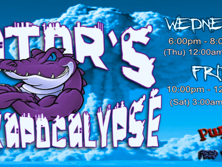Gator's Rockapocalypse Coming at you LIVE at 6pm EST