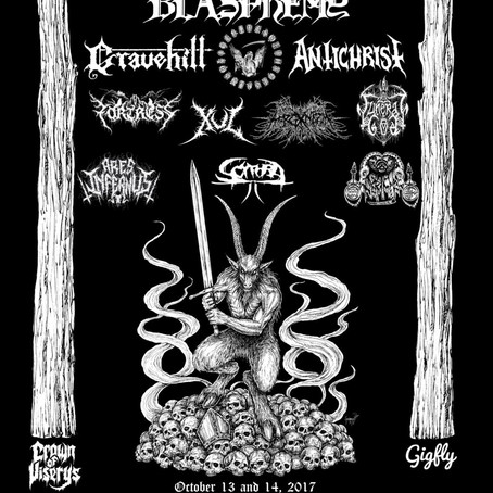 BLACK MOURNING LIGHT Fest 2017 to feat. REVENGE, BLASPHEMY, ANTICHRIST and more!