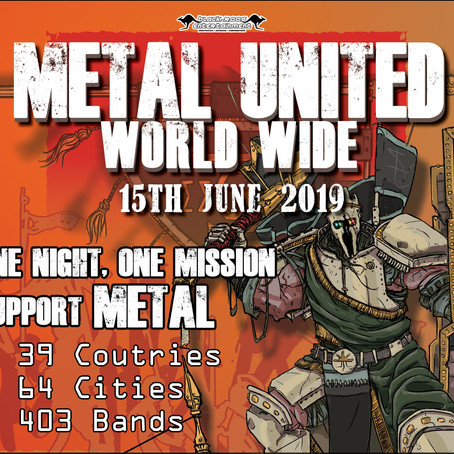 Happy METAL UNITED WORLD WIDE Day! 39 Countries, 64 Cities, 403 Bands!!
