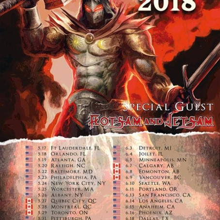 Reminder - FLOTSAM AND JETSAM on tour in support of HAMMERFALL now!