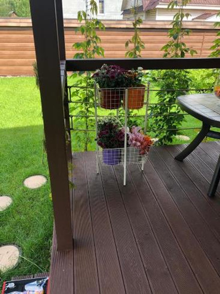 Этажерка для цветов с корзинами