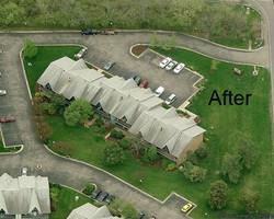 Fire-damaged condo after restoration