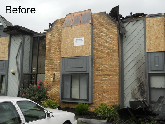 Condo fire damage restoration