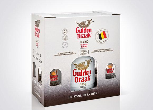 Gulden Draak Classic - 5l tapvat met glazen