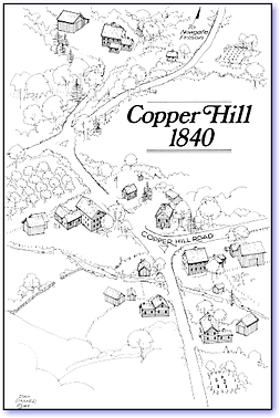 Copper Hill SectionofEast Granby, 1840 map