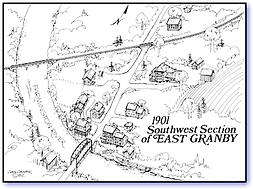 Southwest Section ofEast Granby, 1901 map
