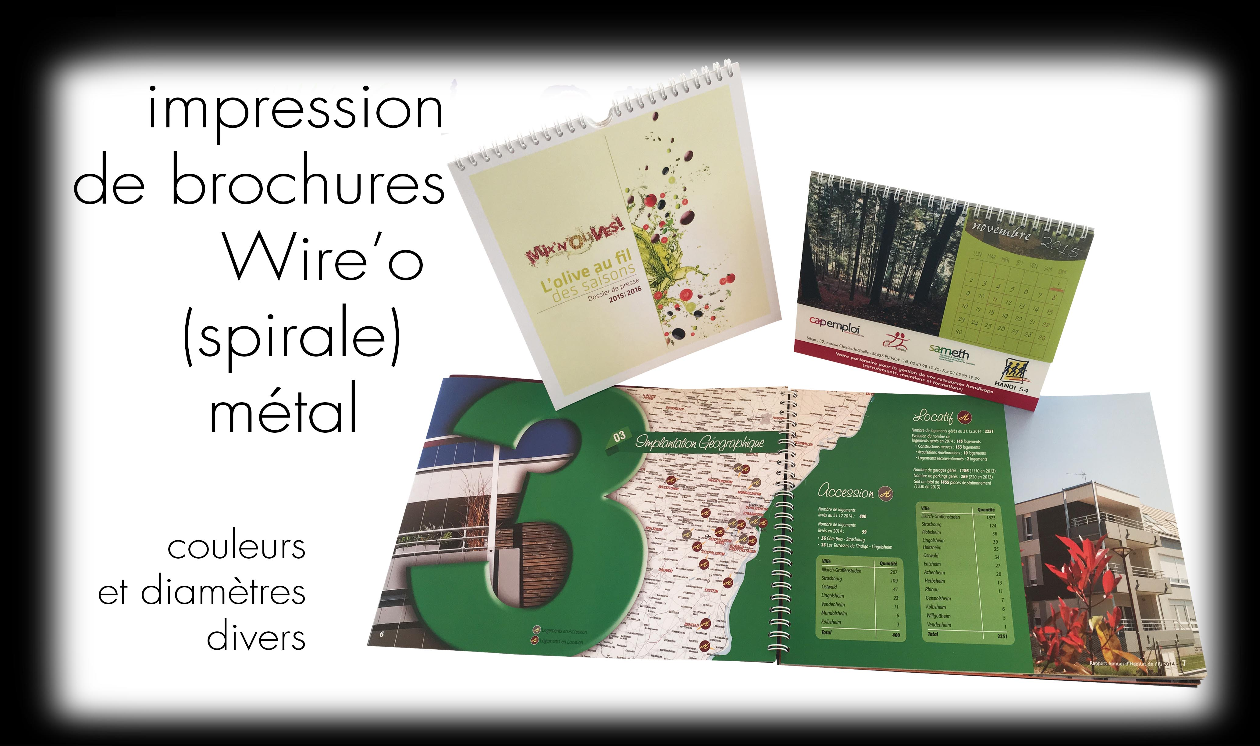 Impression brochures WIRE'O