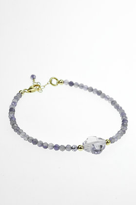 Armband met amethyst, goldfilled
