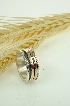 Ring zilver/goldfilled, Jéh model 20419