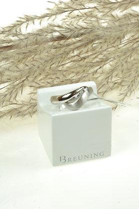 Ring zilver, Breuning, 2 golvende vormen