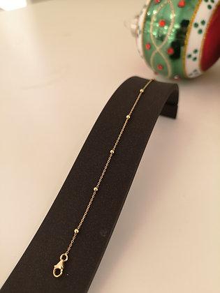 Armband 14 karaat geelgoud, ankerschakel,