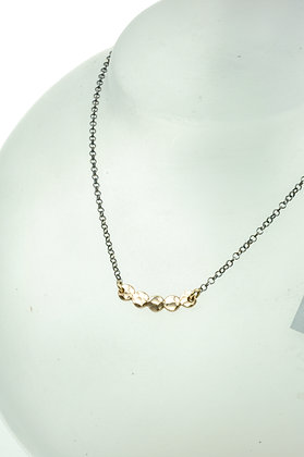 Collier zilver/goldfilled, jasseron collier, model Jéh 20464