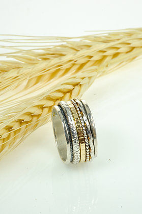 Ring zilver/goldfilled, Jéh model 19691