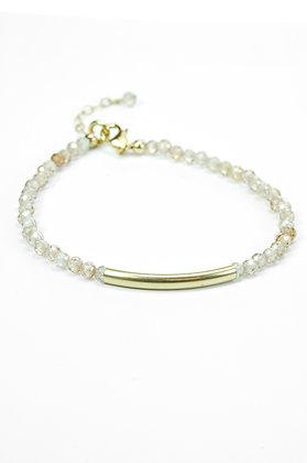 Armband met zirkoon, goldfilled