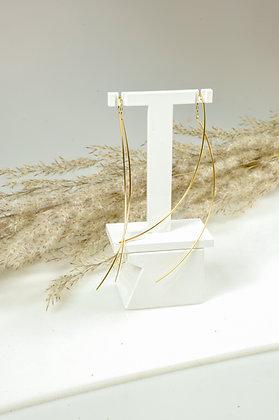 Oorhangers goldfilled, fijn ankerschakel, Jéh model 20381