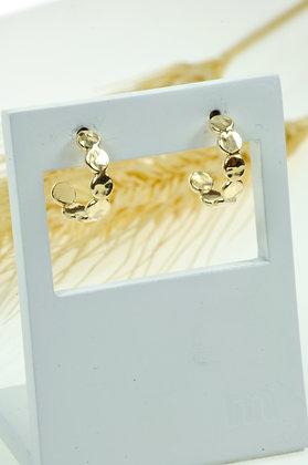 Oorstekers goldfilled, Jéh, ¾ stekercreool, model Jéh 20466