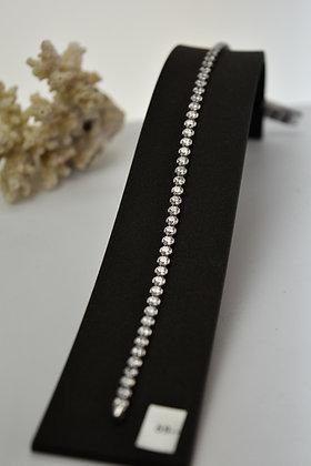 Armband zilver, tennisarmband met ronde 4-poots kastjes met zirconia