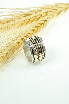 Ring zilver/goldfilled, Jéh model 18484