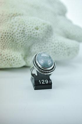 Ring zilver, uit eigen atelier, met Bonte Agaat