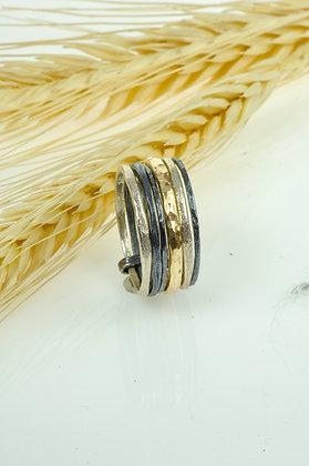 Ring zilver/goldfilled, Jéh model 19100