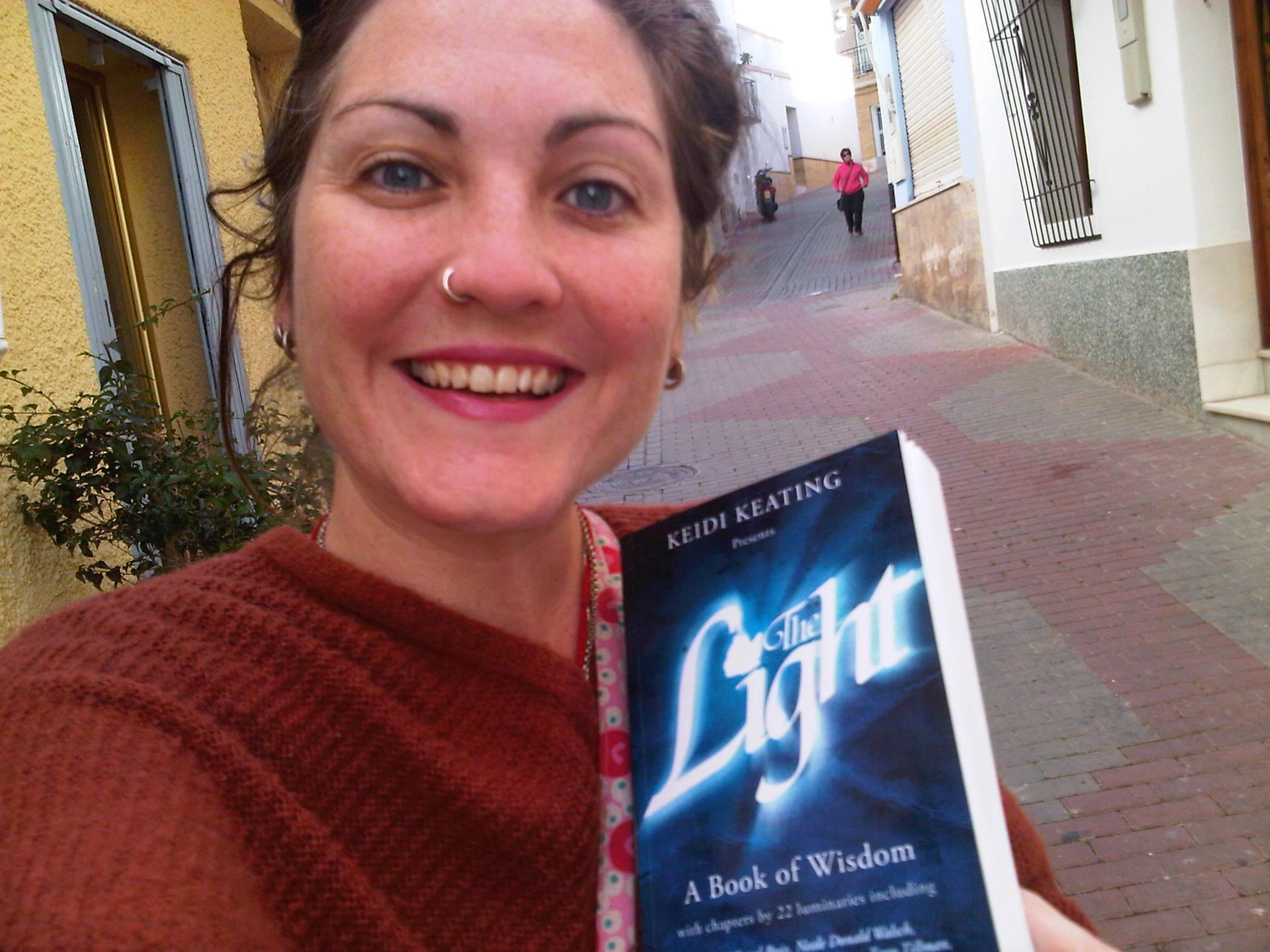 Lauren with her copy of The Light!