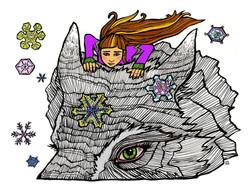 Reading the Snowflakes (colourway)