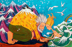 Mountain Man Meets Lady of the Sea
