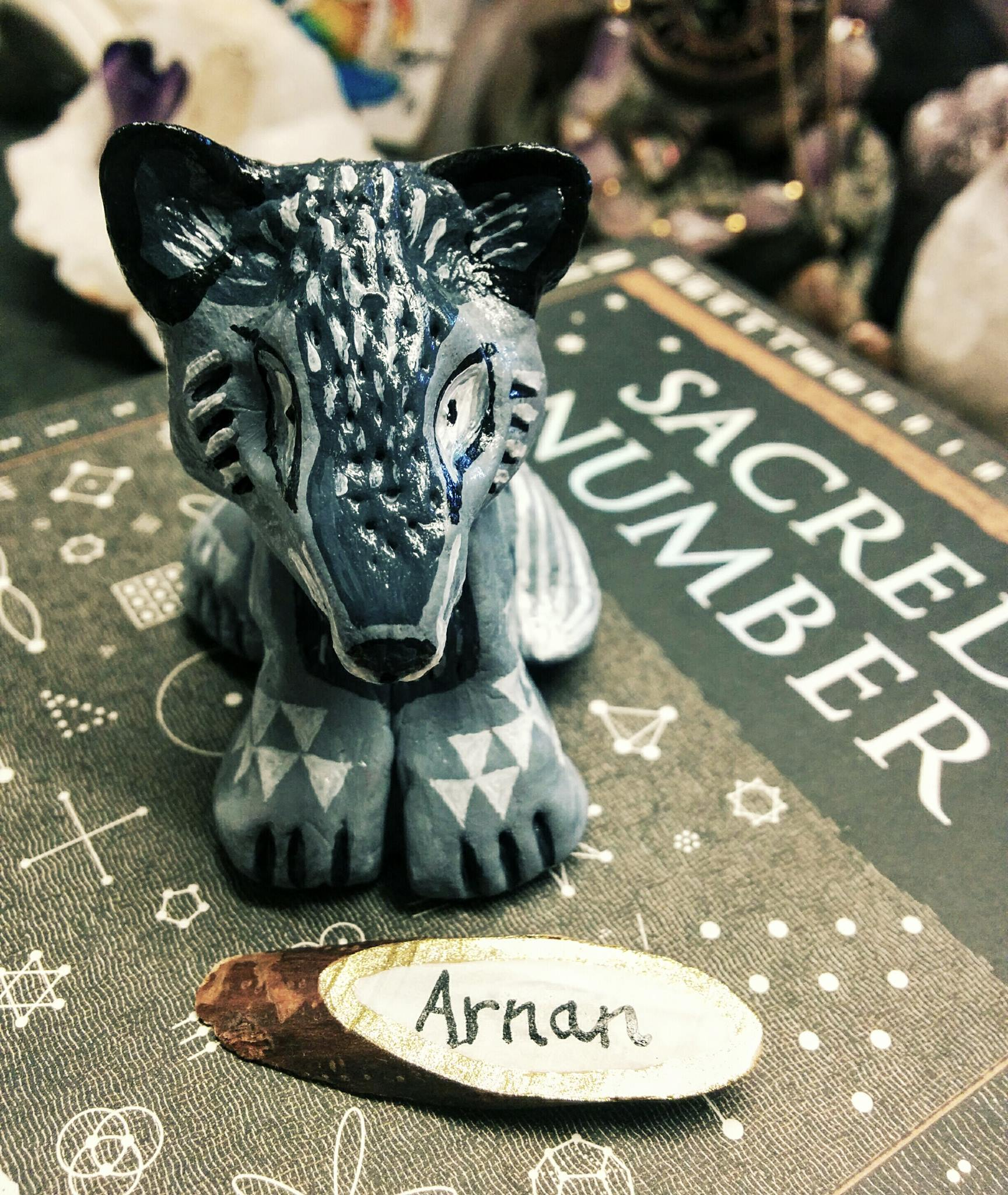SOLD ~ Arnan the Grey Wolfy Cub