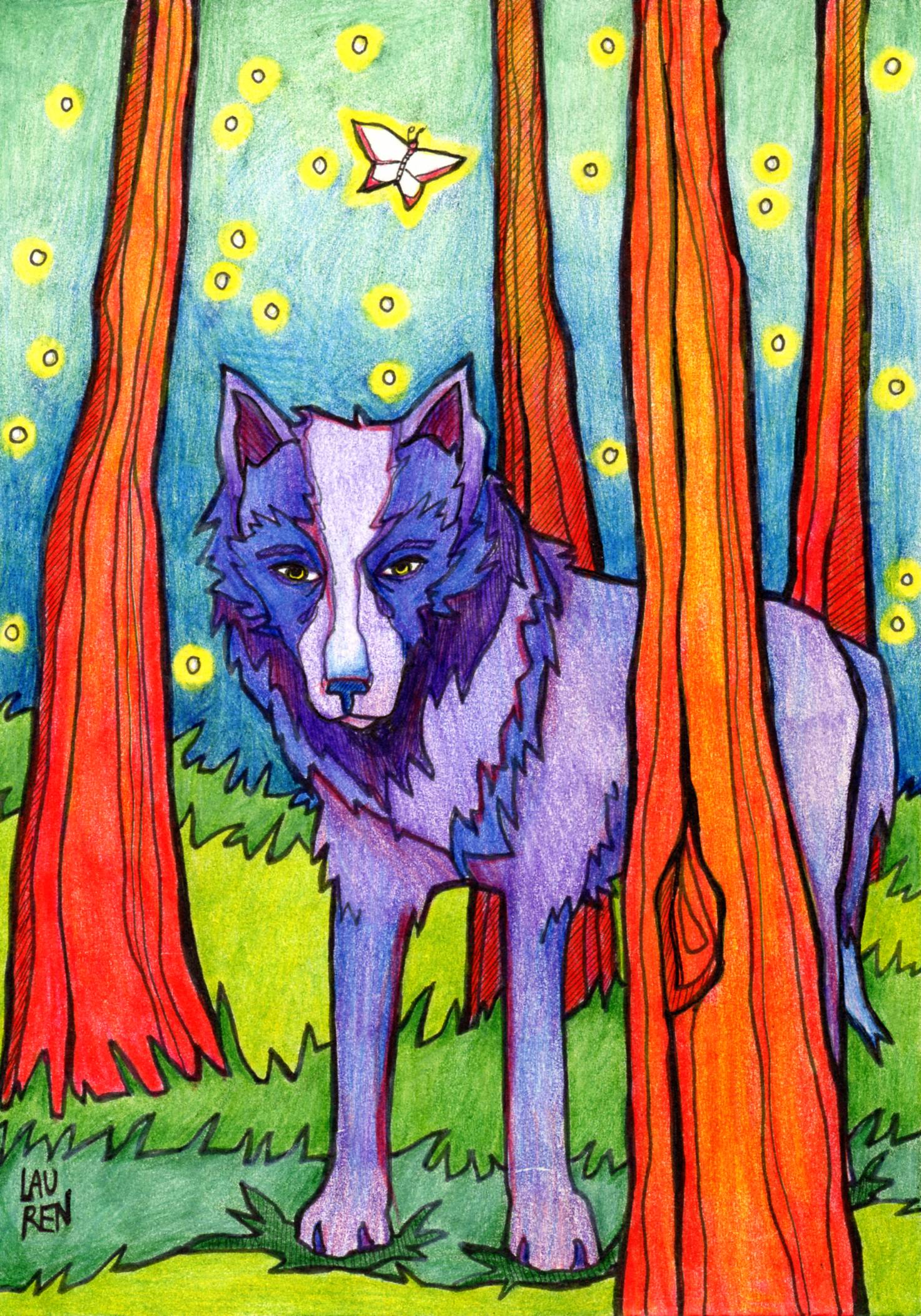 Totem Wolf - Light Card